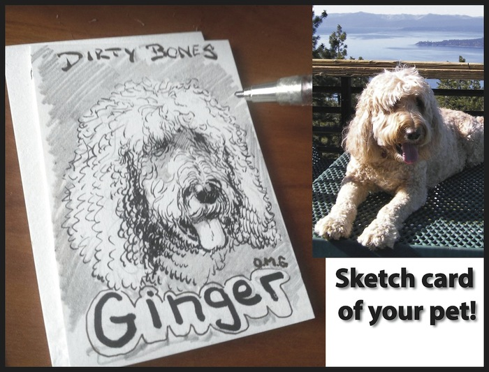 OMG Custom Sketch Card of your Pet!