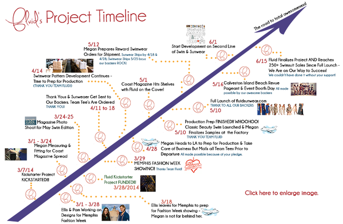 Fluid Sunwear Project Timeline