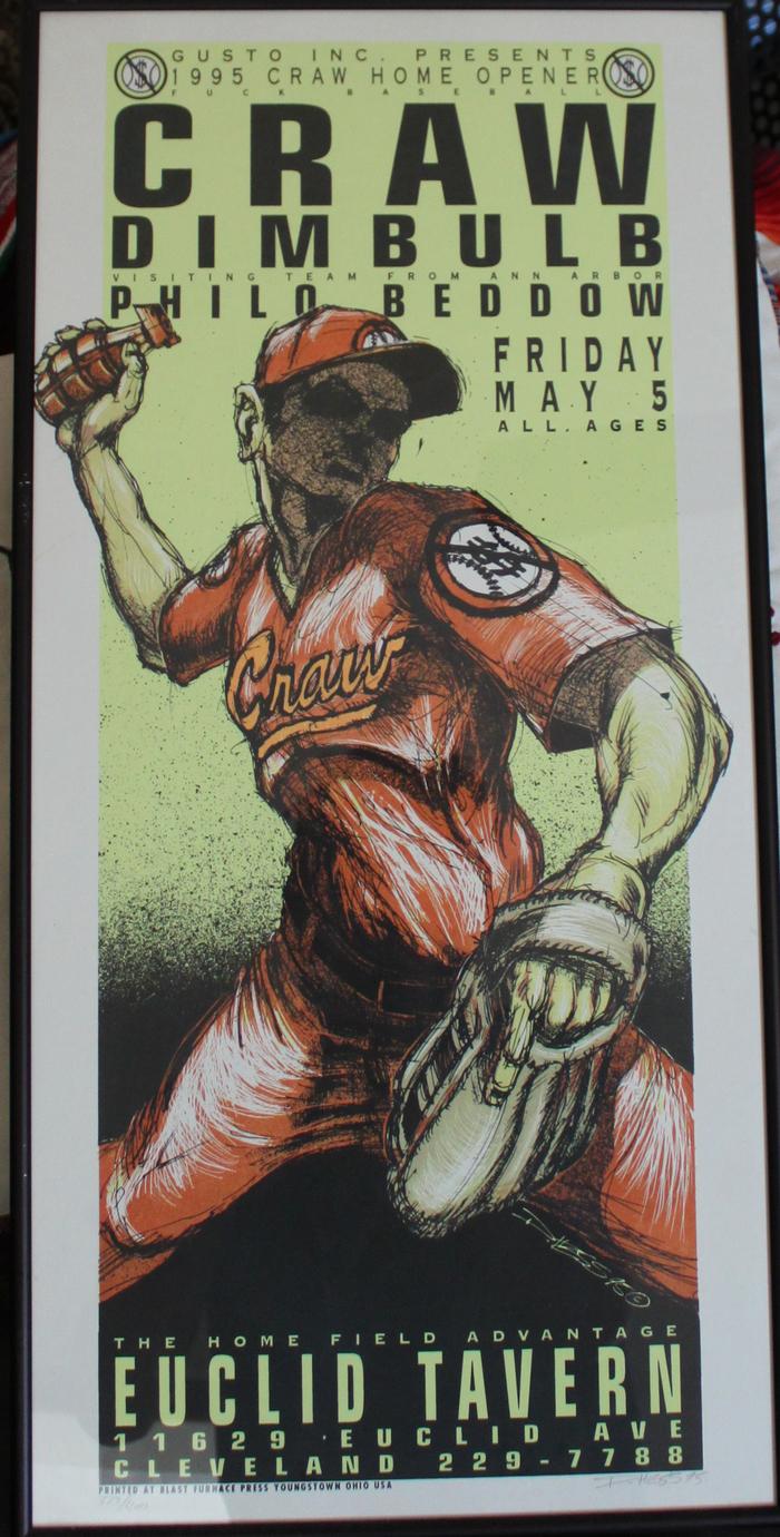 """Craw poster - """"Fuck Baseball"""" design - reward version will be unframed"""