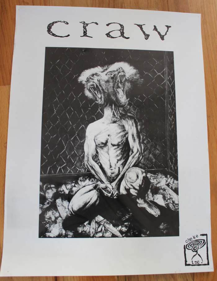 """Craw poster - """"Baboon head"""""""