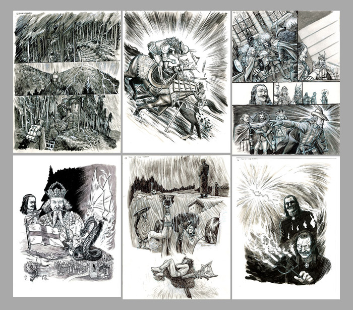 Thumbnails of the Dracula Son of the Dragon pages available