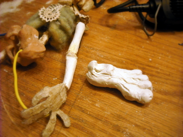 Several different foot sculpts