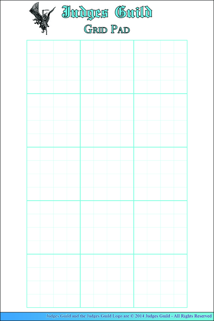 Judges Guild Themed Grid Pad - useful for sketches and notes