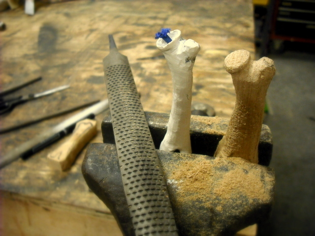 With file and dremel I shape thee femur