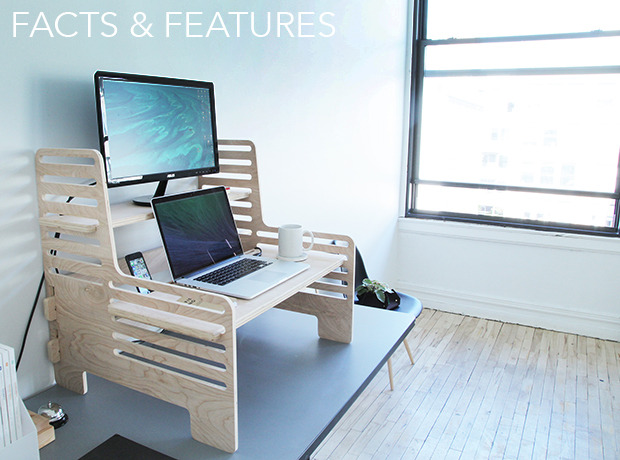 The upstanding desk - image from Kickstarter