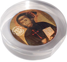 Paperweight with the reproduction of the portrait of St. Francis by Margaritone d'Arezzo (1262-1305)