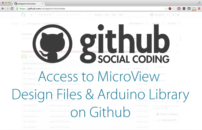 Backers get instant access to the MicroView design files on Github.