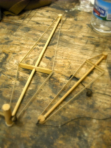 Here are two handmade Windwands I bought at a music store