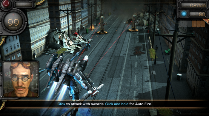 Mechrunner game screenshot