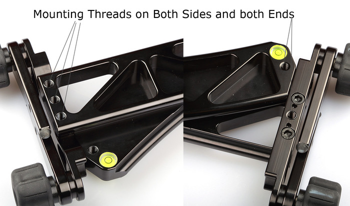 Mounting threads at both ends and both sides.