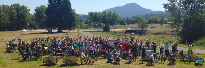 Over 100 riders showed up for the Eugene Roll Call. Thanks to Co-Directors Paul Adkins, Kate Carroll Burns and Shane MacRhodes, I was there to capture it!