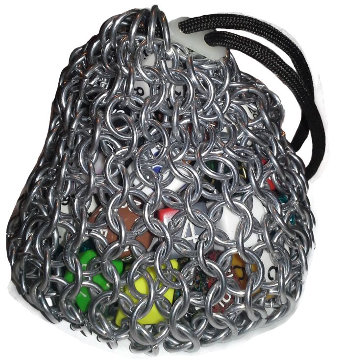 how to make a chainmail dice bag