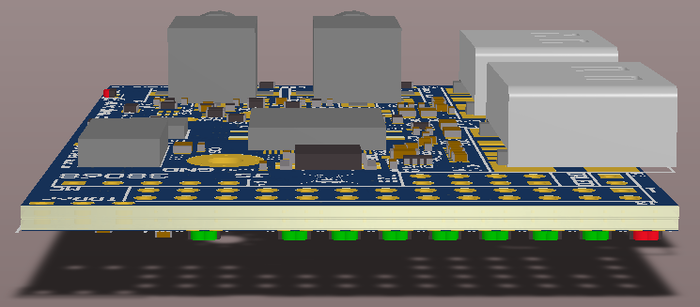Side view of the layout (LED meter)