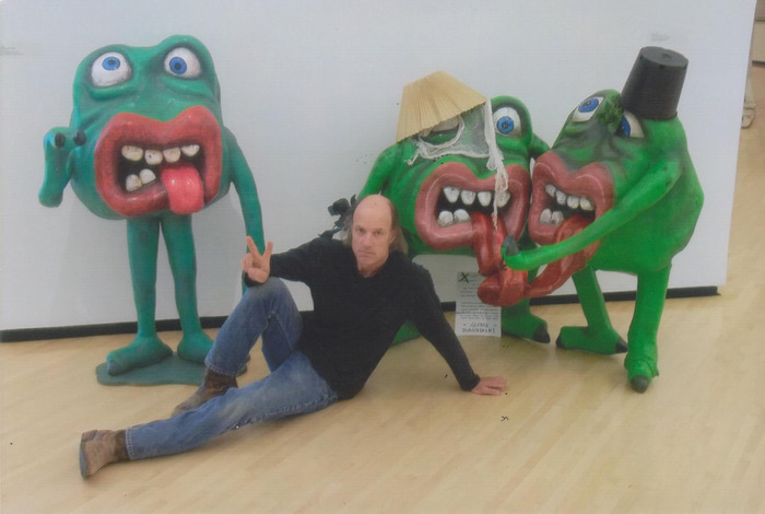 Mr. Slime (This image is Mark with his Slimes at the Taubman Art Museum in Roanoke, VA, where he was the centerpiece of an outsider art exhibition). PLEASE NOTE: the reward is only ONE Mr. Slime
