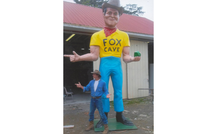 This is the Muffler Man customized as a cowboy (Customizations cost extra but this gives you an idea of what he looks like and his size)