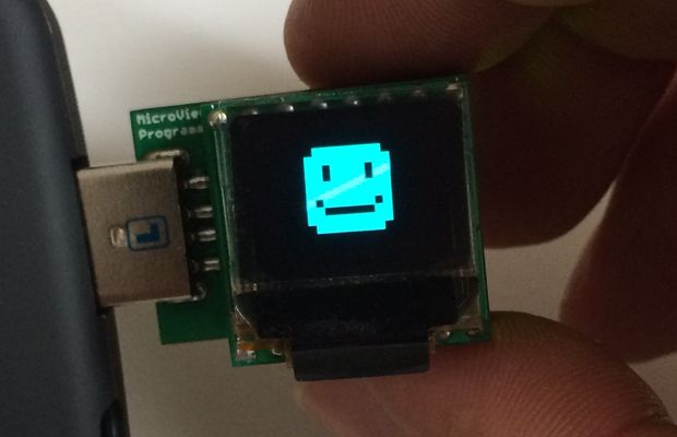 MicroView prototype without enclosure. Doesn't it look a bit naked?