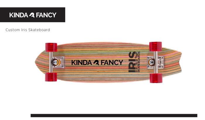 Custom Kinda Fancy Iris Skateboard