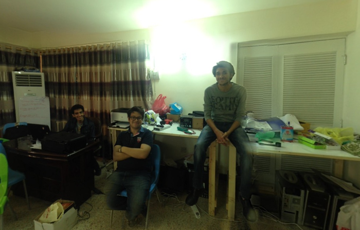 360 view of the space, Jeff, Ahmed and Nael!