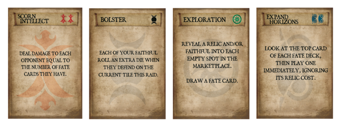A Fate Card from each deck.