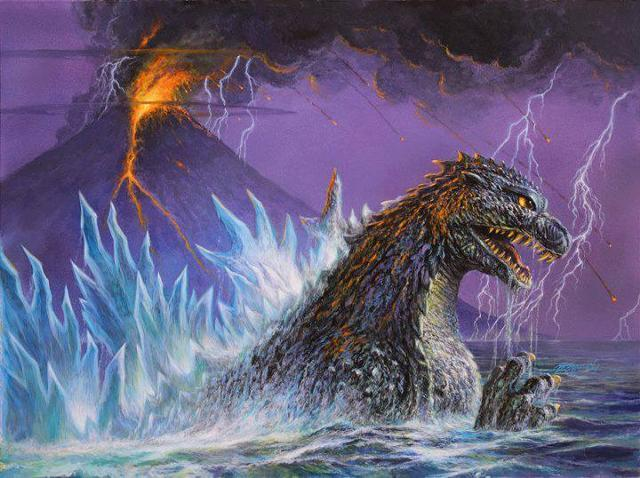 A recent example of Bob Eggleton's work for the IDW Godzilla comic book series. NOTE: This is NOT the print that will be made available for backers.