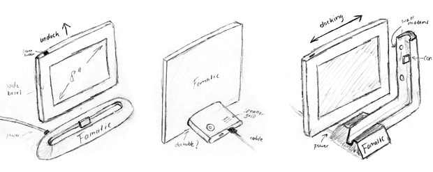 Some early sketches of docking options