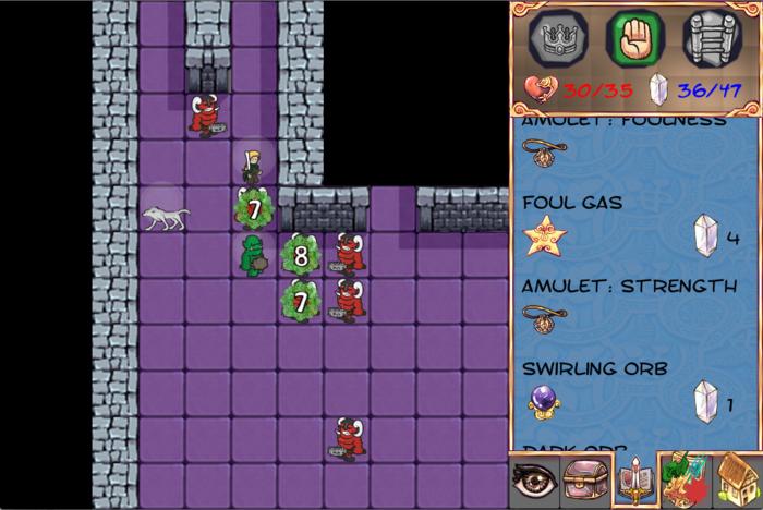 Character exudes foul, poisonous gas at closest enemies.