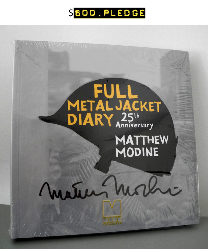 $600 for this extremely rare Rome Film Festival Edition of FMJ Diary signed by Matthew Modine + your name in the photo booklet + all of the $15 rewards