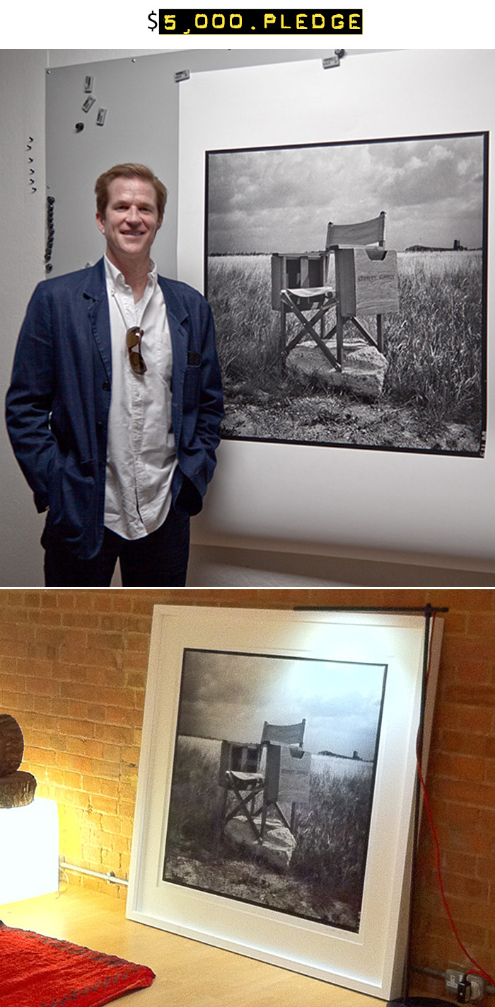 $5,000 for a huge 36 x 36-inch fine art print of Stanley Kubrick's Director's Chair signed by Matthew Modine (similar to the one pictured, frame not included) + an Associate Producer credit in the photo booklet + all of the $25 rewards