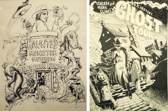 LEFT: Monster Museum print. RIGHT: Ghost Tour Print.