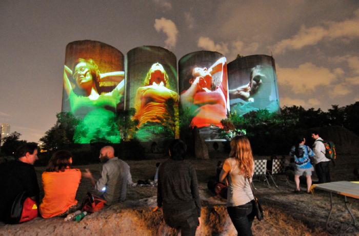 Luke Savisky, E/x installation in Houston, TX. Photo courtesy Aurora Picture Show. Savisky has his sites on the Gold Medal Silos for NS 2014.
