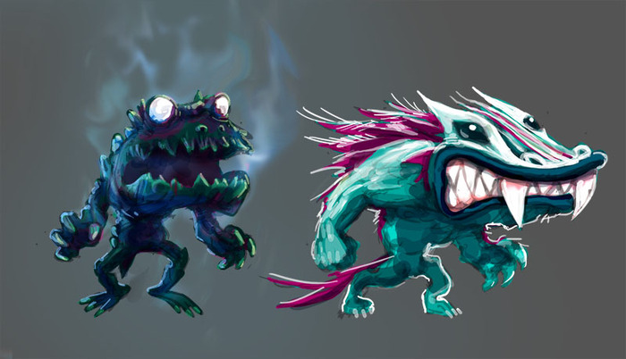 ...zombie frogs, wolf dragons...