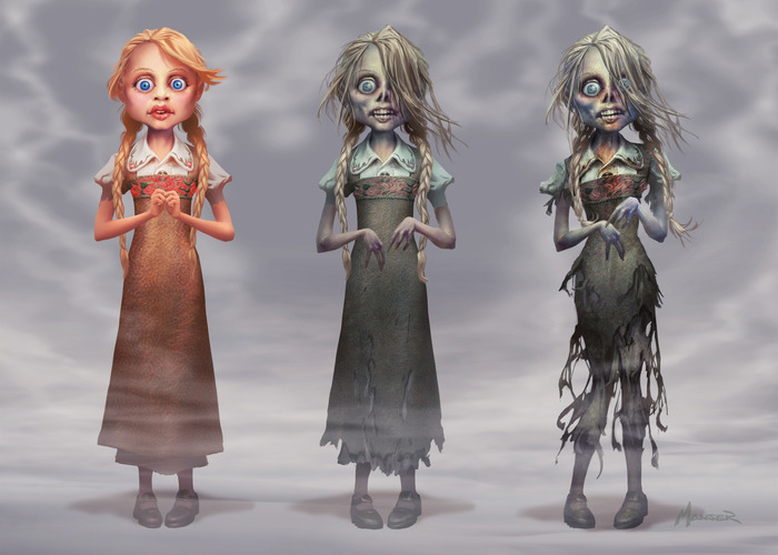 """From the episode, """"Frank and the Zombie Girl,"""" concept art by Warren Manser."""