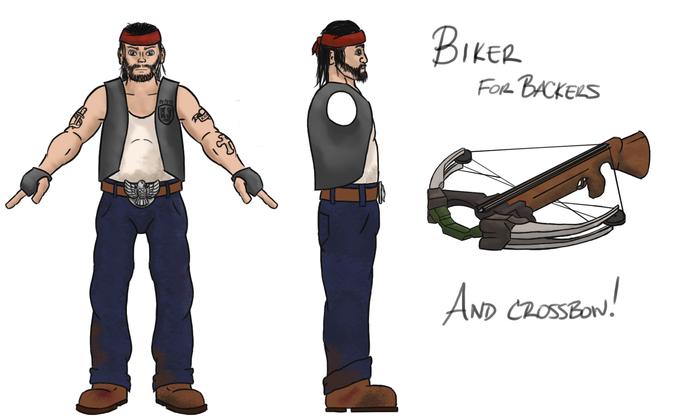 Biker character sketch (not final)