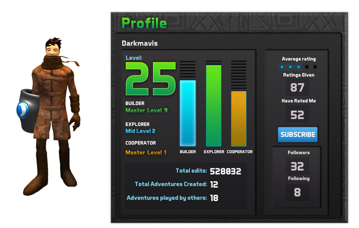 See the three bars: Builder, Explorer, Cooperator? These are all skills that are useful in gaming AND in real life!