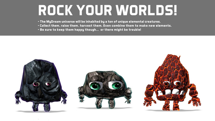 Rock Creatures FTW! Yes they are cute and cuddly. Who wouldn't want to snuggle with a rock?