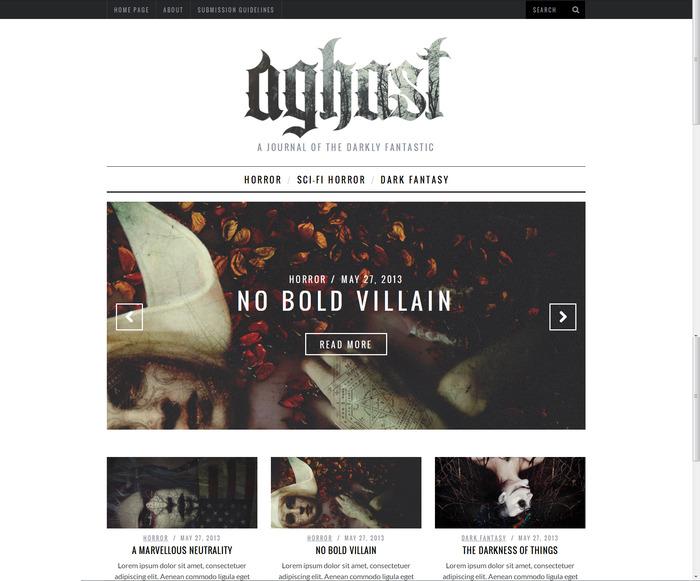 Aghast Website Mock Up