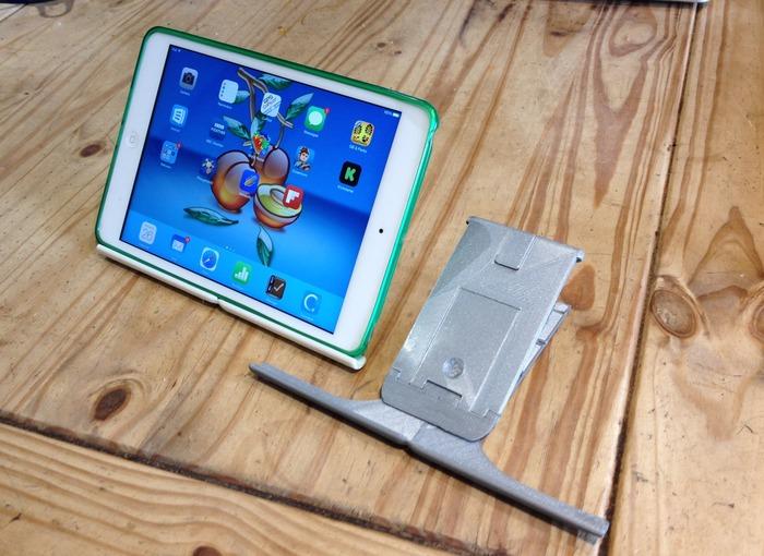 Plinth prototypes with an iPad mini