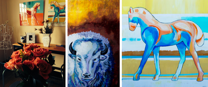 The first 2 individuals to pledge at $2500 or above will receive an original acrylic on wood painting!