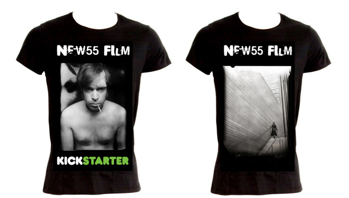 "New55 FILM commemorative Kickstarter t-shirts - choose either ""Tobias"" or ""Polly"" (Men's or Ladies' styles in S, M, L or XL)"