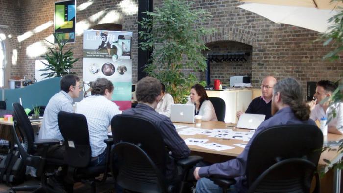 Design meeting at Lumafit.