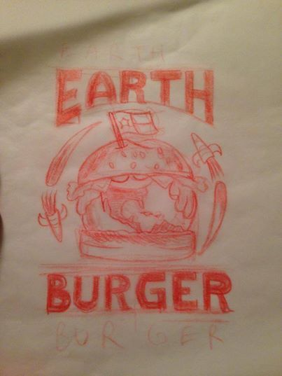 Earth Burger t-Shirt Design