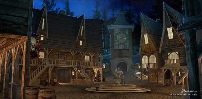 The Village! Artwork by Dawn Brown.
