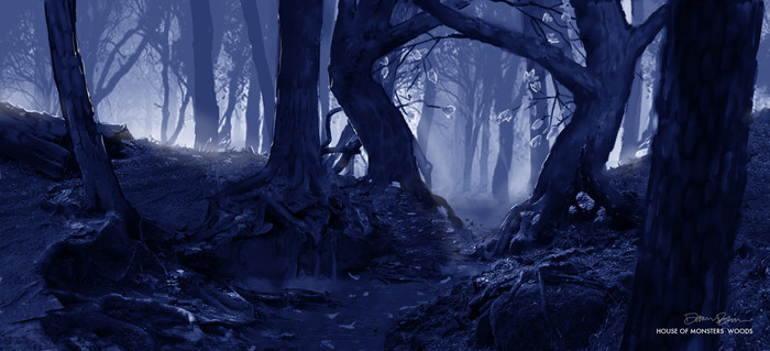 The Wicked Woods! Artwork by Dawn Brown.