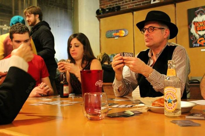 Seattle Prerelease. My father, an avid playtester, can be seen on the right in Noir attire.