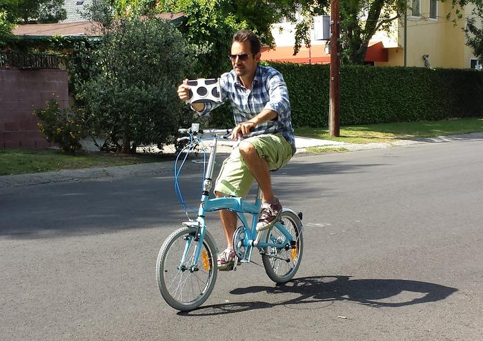 While riding a bike