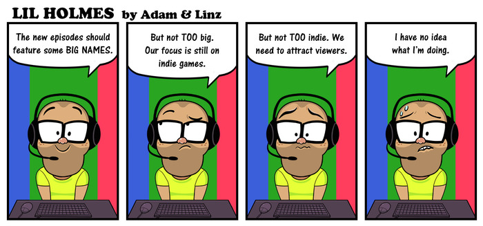 """""""Lil Holmes"""" comics by Adam Tierney and Lindsay Collins"""