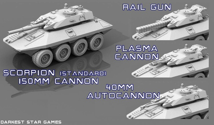 Scorpion LACV, with gun options