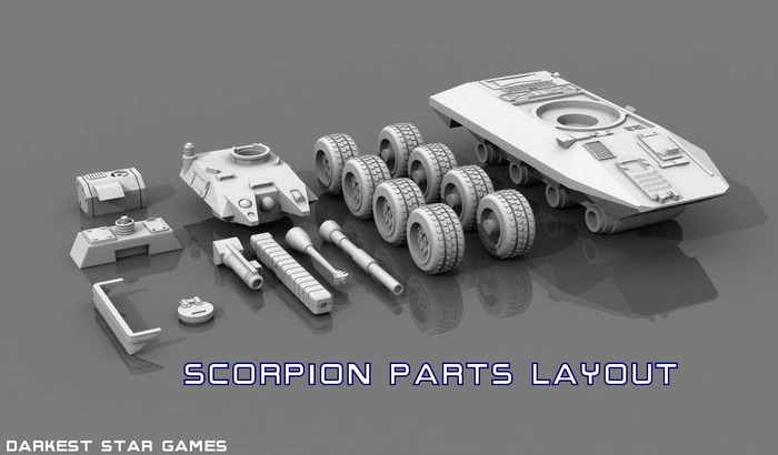 Scorpion parts layout