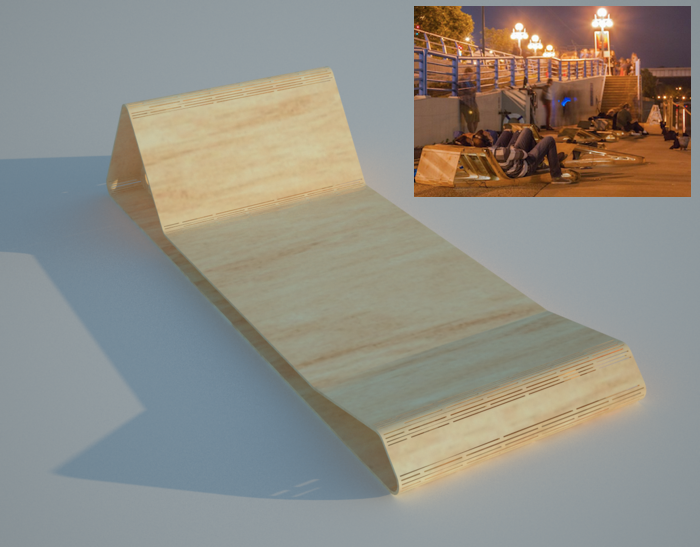 """$500 - DECK CHAIR. Original design by architect Molly Reichert for Monica Haller's 2013 project, """"Can you listen to the same river twice?"""" Limit 1."""