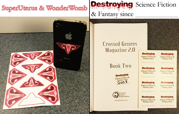 "Sticker sheets: SuperUterus/Wonder Womb & ""Destroying SFF""! ($5)"